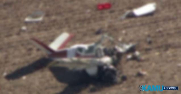 Almanya Karlsruhe Kenti Yakınlarında Uçak Düştü! 3 Kişi Öldü