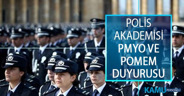 EGM Polis Akademisi Başkanlığı PMYO ve POMEM Eğitim Sonu Sınav Duyurusu Yayımlandı! 2019 EGM POMEM PMYO
