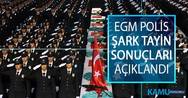 Emniyet Genel Müdürlüğü (EGM) Polis Şart Tayin Sonuçları Açıklandı! EGM Polis Tayin Sonuçları Sorgulama Ekranı