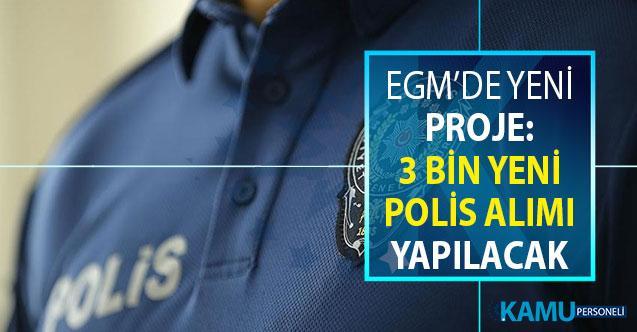 Emniyette Yeni Proje Başladı: EGM'ye 3 Bin Yeni Polis Alımı Yapılacak
