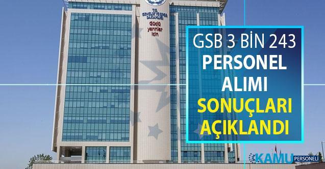 GSB 3 Bin 243 Kamu Personeli Alımı Sonuçları Açıklandı