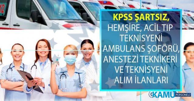 İŞKUR 19 Temmuz-02 Ağustos  tarihleri arasında KPSS şartsız en az lise ve önlisans mezunu sağlık personeli alımı yapıyor!