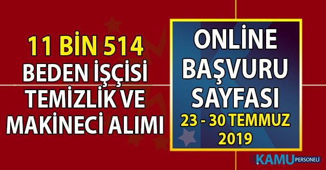 İŞKUR 23-30 Temmuz İş ilanları makineci, temizlik ve beden işçisi olarak 11 bin 514 personel alımı başvuru ilanı