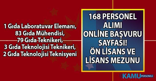 İŞKUR gıda mühendisi, teknikeri ve teknisyeni olarak 168 personel alımı başvuru sayfası!