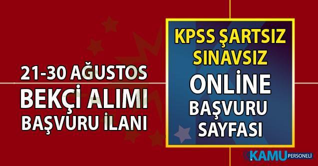 İŞKUR Özel Sektör en az ilkokul, lise mezunu Bekçi Alımı online başvuru ilanı