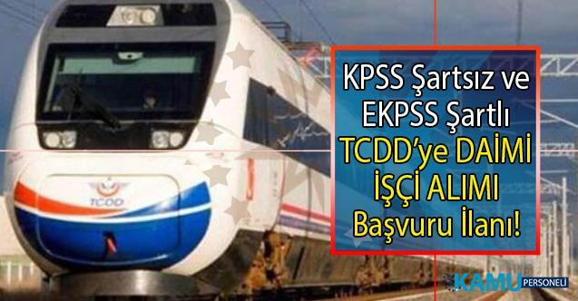 İŞKUR tarafından TCDD'ye KPSS şartsız ve EKPSS şartlı olarak 30 Daimi işçi alımı yapılacaktır! Peki TCDD engelli işçi alımı başvuruları ne zaman?