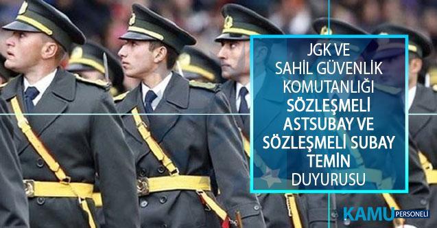 Jandarma Genel Komutanlığı ve Sahil Güvenlik Komutanlığı Sözleşmeli Astsubay ve Sözleşmeli Subay Temin Sonuçları Açıklandı!