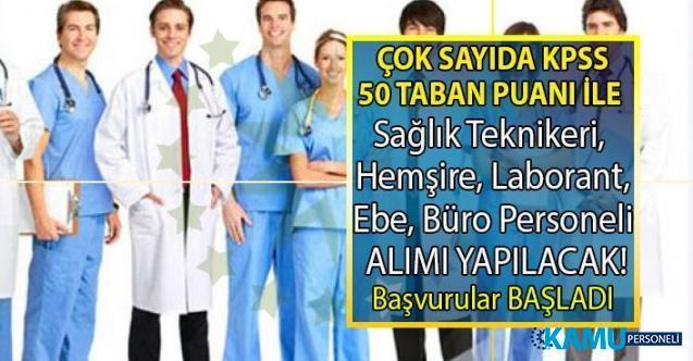 KPSS 50 ile araştırma hastanesine 16 Temmuz'a kadar Hemşire, Ebe, Sağlık Teknikeri, Laborant, Büro Personeli ve Fizyoterapist alımı yapacak