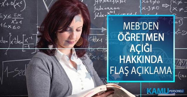 MEB Öğretmen Yetiştirme ve Geliştirme Genel Müdürü Adnan Boyacı'dan Öğretmen Açığı Hakkında Açıklama