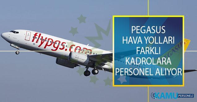 Pegasus Hava Yolları Farklı Kadrolarda İstihdam Etmek Üzere Yeni Personel Alımı Yapıyor!
