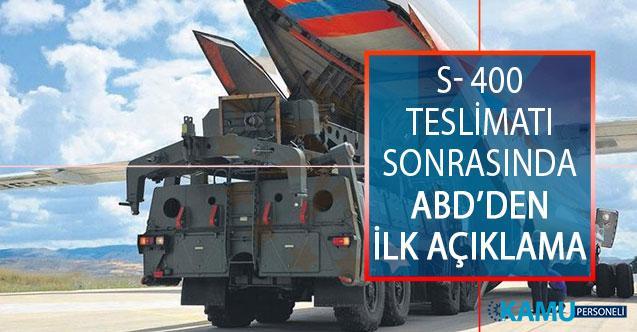 S- 400 Teslimatı Sonrasında ABD Savunma Bakanı Vekili Mark Esper'den İlk Açıklama!