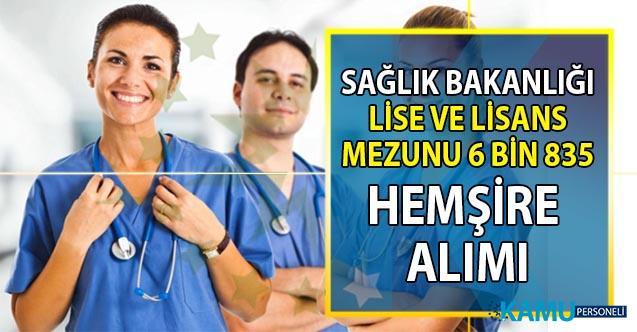 Sağlık Bakanlığı lisans mezunu 5 bin, lise mezunu bin 835 hemşire alımı başvuru adresi
