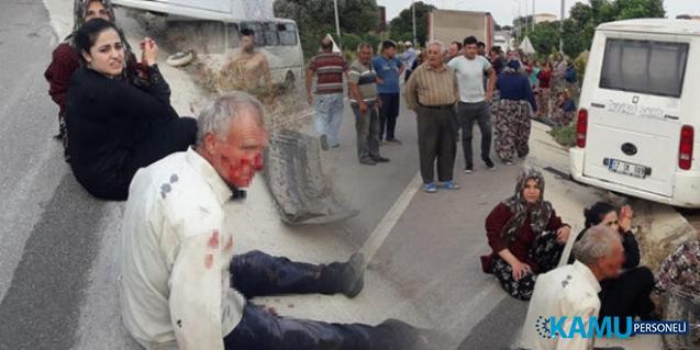 Tarım İşçilerini Taşıyan Minibüs Kaza Yaptı: 2'si Ağır Çok Sayıda Yaralı Var