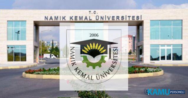Tekirdağ Namık Kemal Üniversitesi 25 öğretim üyesi personel alımı başvuru ilanı
