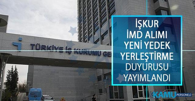 Türkiye İş Kurumu (İŞKUR) İş ve Meslek Danışmanı (İMD) Yeni Yedek Yerleştirme Duyurusu Yayımlandı!