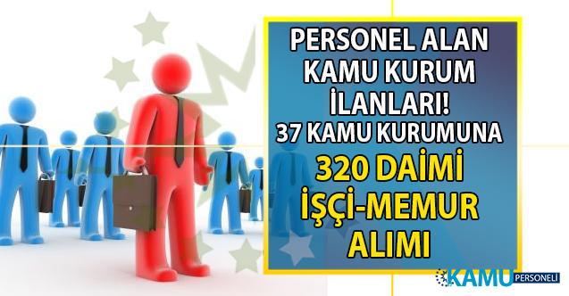 30 Ağustos İŞKUR kamu ilanları ve 37 kuruma KPSS Şartsız 320 personel alımı