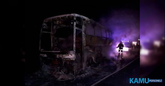 40 Yolcusu Bulanan Yolcu Otobüsü Yandı