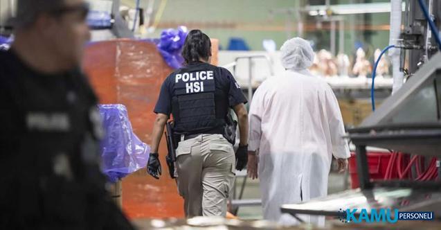 ABD'nin Mississippi eyaletinde düzenlenen göçmen operasyonlarında 680 kaçak göçmen yakalandı