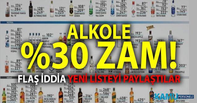 Alkole yüzde 30 zam mı geliyor ? Sigara zammı sonrası içki alkol zammı iddiaları