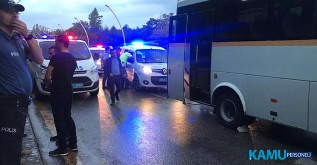 Ankara'da Polisleri Taşıyan Servis, Belediye Otobüsüne Çarptı! 3'ü Polis, 8 Kişi Yaralandı