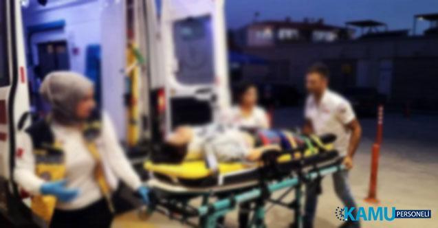 Bursa İnegöl'de Akılalmaz Olay! Kazadan Burnu Bile Kanamadan Kurtulan Kızını, Döverek Hastanelik Etti