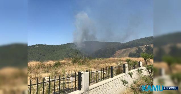 Çanakkale'de Orman Yangını ! Karadan ve Havadan Müdahale Ediliyor