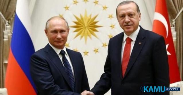 Cumhurbaşkanı Erdoğan Rusya Devlet Başkanı Putin İle Görüştü