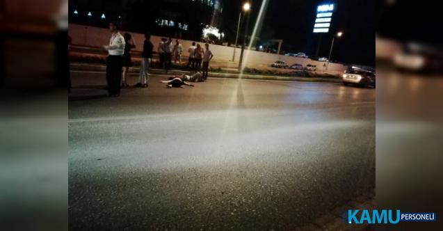 Denizli-Ankara karayolunda trafik kazası! Karı kocaya araba çarptı