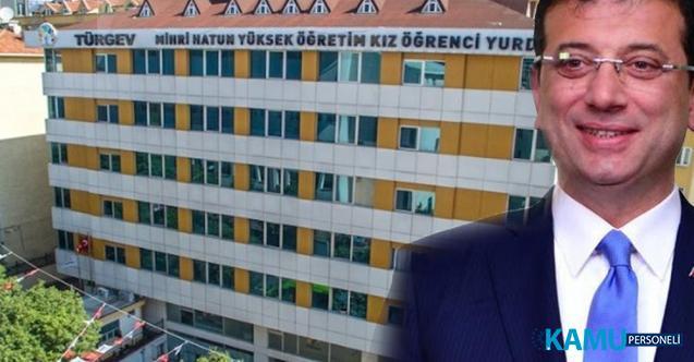 İBB Başkanı Ekrem İmamoğlu İstanbul'daki 5 TÜRGEV yurdunu geri aldı