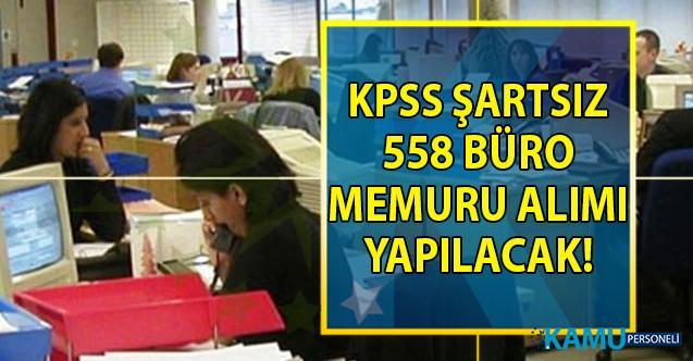 İŞKUR 44 şehirde KPSS şartsız 558 büro memuru alımı için yeni iş ilanları yayımladı!