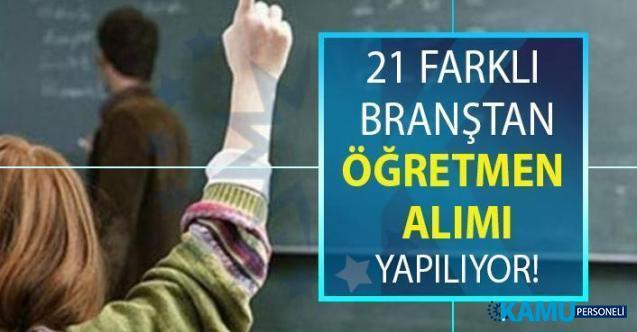 İŞKUR tarafından tam 21 branştan öğretmen alımı yapılacaktır!