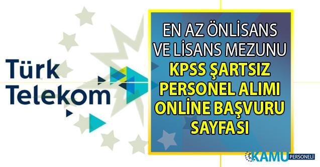 İŞKUR üzerinden Türk Telekom'a KPSS'siz 10 personel alımı yapılacak! Peki Türk Telekom iş başvurusu nasıl yapılacak?