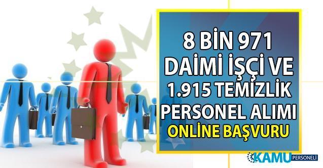 İŞKUR  vasıflı vasıfsız 11 bin 316 daimi işçi ve temizlik personeli alımı online iş başvurusu nasıl yapılır?