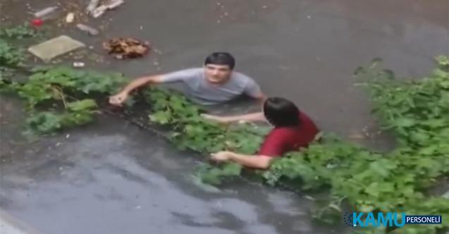 İstanbul Ataşehir'de yoğun yağış nedeniyle su baskınları yaşandı!