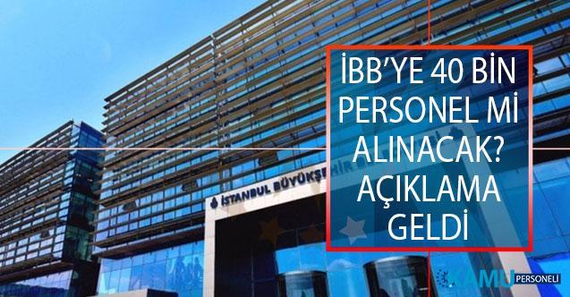 İstanbul Büyükşehir Belediyesi (İBB) 40 Bin Personel Mi Alacak? İBB Sözcüsü Murat Ongun'dan Açıklama Geldi!