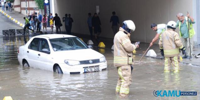 İstanbul'da Sağanak Yağıştan Dolayı Alt Geçit ve Evleri Su Bastı