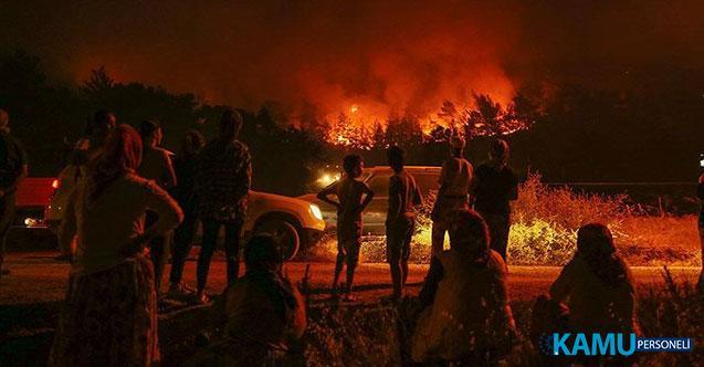 İzmir'in Karabağlar İlçesinin Tırazlı Mahallesi Yakınlarında Dün Başlayan Yangın Yerleşim Yerlerine Doğru İlerliyor!