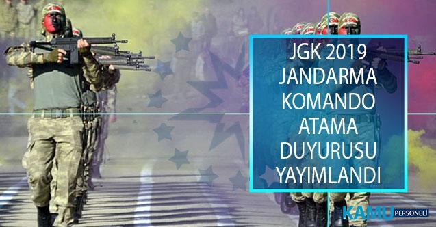 Jandarma Genel Komutanlığı (JGK) 2019 Yılı Jandarma Komando Uzman Erbaş Atama Duyurusu Yayımlandı!