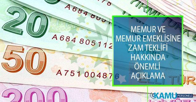 Memur Ve Memur Emeklisine Zam Teklifi Hakkında Memur-Sen Genel Başkanı Ali Yalçın'dan Önemli Açıklama!