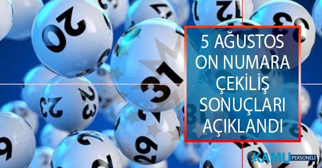 MPİ 5 Ağustos On Numara Çekiliş Sonuçları Açıklandı! 5 Ağustos On Numara Çekiliş Sonuçları Sorgulama Ekranı