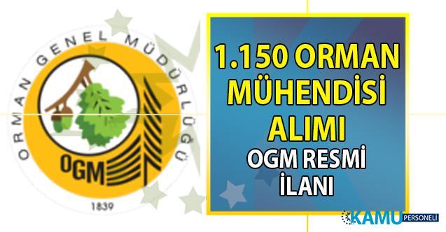 Orman Genel Müdürlüğü 1.150 Orman Mühendisi alımı başvuru şartları
