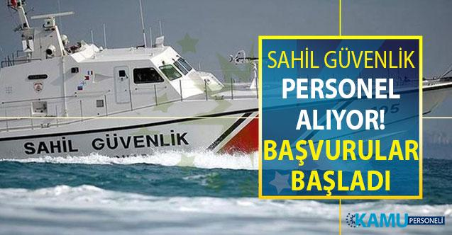 Sahil Güvenlik Komutanlığı 2 Eylül'e Kadar Kamu Personeli Alımı Yapıyor ! Personel Alımı Online Başvuru Ekranı