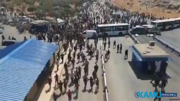 Son dakika! Suriyeliler Türkiye sınırına yürüdü iddiası