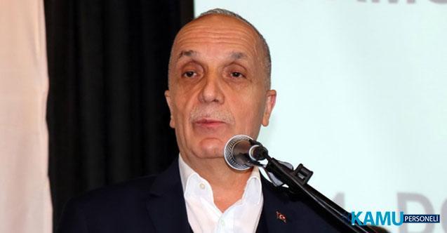 Türk- İş Başkanı Atalay'dan Enflasyon Zammı ve Kamu İşçilerine Zam Hakkında Yeni Açıklama!