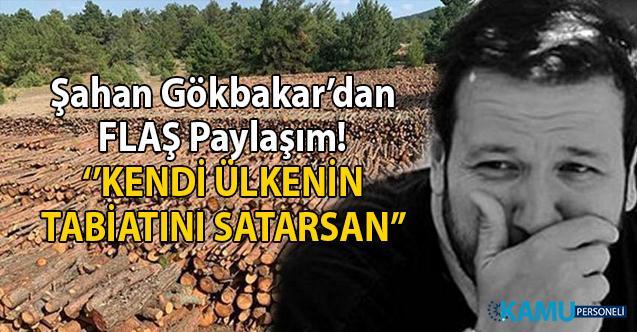 Ünlü komedyen Şahan Gökbakar'dan Kaz Dağları için Flaş Paylaşım! 'Kendi ülkenin tabiatını satarsan'