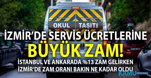 Zam Sonrası 2019 - 2020 İzmir Okul Servisleri Yeni Fiyat Tarifesi - İstanbul, Ankara ve İzmir okul servis ücretleri