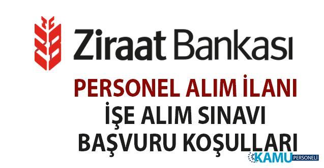 Ziraat Bankası 20 personel alımı iş başvuru şartları! Müfettiş Yardımcısı işe alım sınavı ilanı