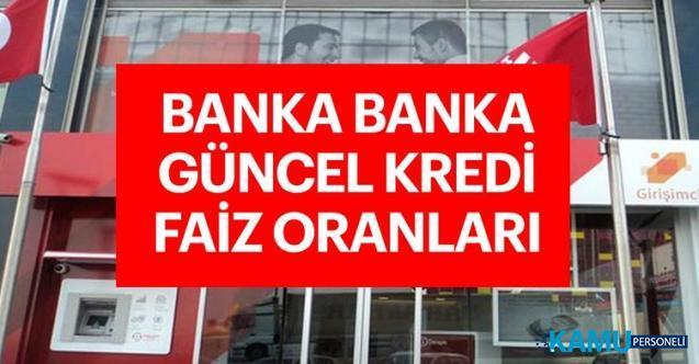 16 Eylül 2019 Bankaların güncel faiz oranları - Ziraat Bankası, Halkbank, Vakıfbank, İş Bankası, Garanti kredi faiz oranları