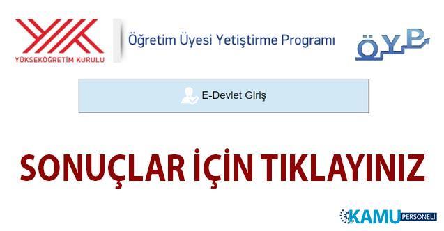 2019 ÖYP Güz Dönemi lisansüstü eğitim kontenjanlarına tercih işlemleri sonuçlandı