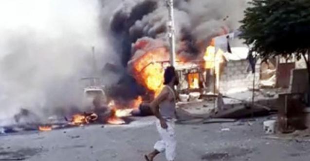 Afrin'de  bombalı saldırı! Bomba yüklü araç patlatıldı: Çok sayıda ölü ve yaralı var